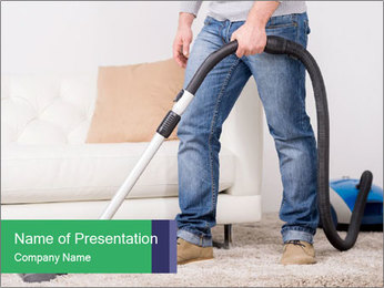 Vacuum Cleaner PowerPoint Template - Slide 1