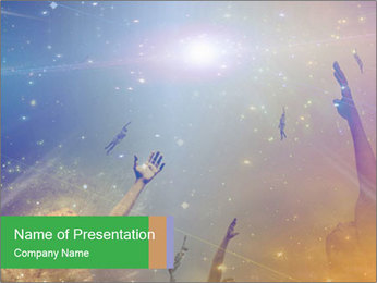 People soaring PowerPoint Template - Slide 1