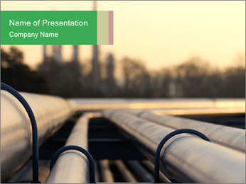 Steel pipes PowerPoint Template