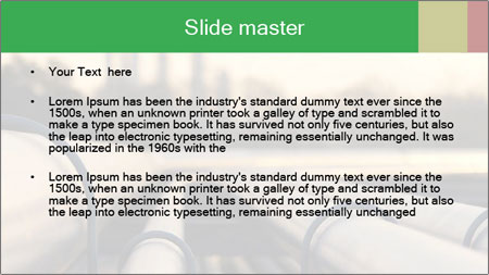 Steel pipes PowerPoint Template - Slide 2