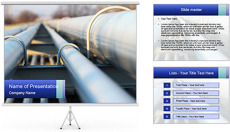 Detail of steel PowerPoint Template