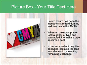 Colored vintage letterpress PowerPoint Template - Slide 13