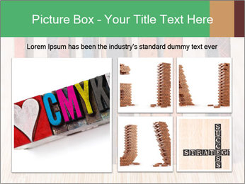 Colored vintage letterpress PowerPoint Template - Slide 19