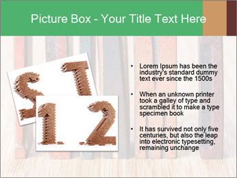 Colored vintage letterpress PowerPoint Template - Slide 20
