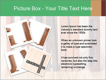 Colored vintage letterpress PowerPoint Template - Slide 23