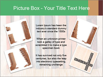 Colored vintage letterpress PowerPoint Template - Slide 24