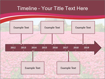 Rows of pink tulips PowerPoint Templates - Slide 28