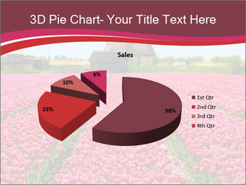Rows of pink tulips PowerPoint Templates - Slide 35