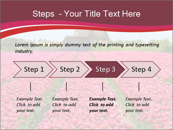 Rows of pink tulips PowerPoint Templates - Slide 4