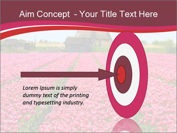 Rows of pink tulips PowerPoint Templates - Slide 83
