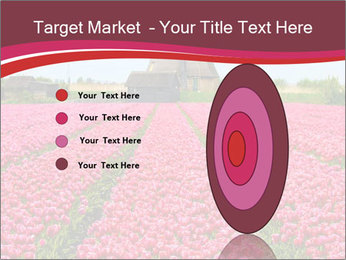 Rows of pink tulips PowerPoint Templates - Slide 84
