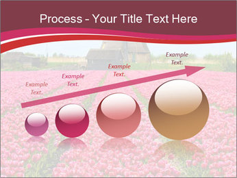 Rows of pink tulips PowerPoint Templates - Slide 87
