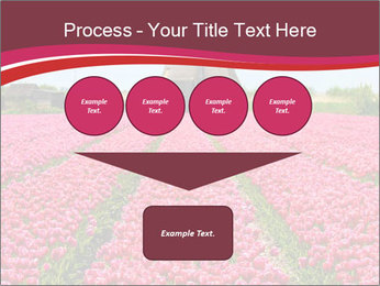 Rows of pink tulips PowerPoint Templates - Slide 93