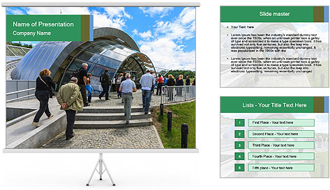 Modern Romanian City PowerPoint Template