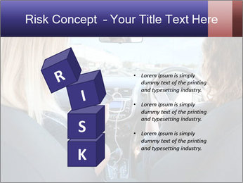 Two Women Driving Car PowerPoint Template - Slide 81
