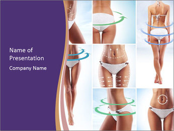 White Bikini PowerPoint Template