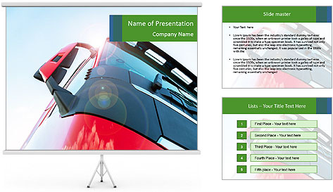 Red Truck PowerPoint Template