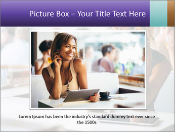 Woman Drinking Coffee In Cafe PowerPoint Template - Slide 15