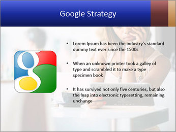 Woman Reading In Cafe PowerPoint Template - Slide 10