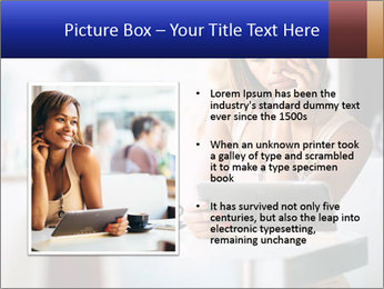 Woman Reading In Cafe PowerPoint Template - Slide 13