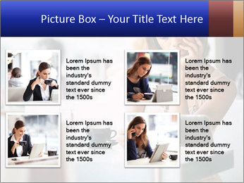 Woman Reading In Cafe PowerPoint Template - Slide 14