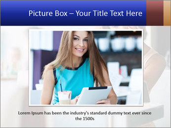 Woman Reading In Cafe PowerPoint Template - Slide 15