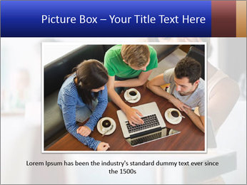 Woman Reading In Cafe PowerPoint Template - Slide 16