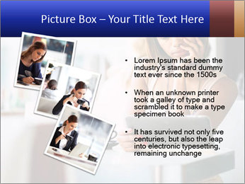Woman Reading In Cafe PowerPoint Template - Slide 17