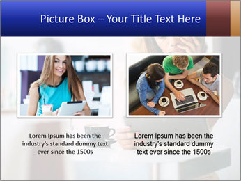 Woman Reading In Cafe PowerPoint Template - Slide 18