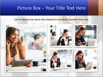 Woman Reading In Cafe PowerPoint Template - Slide 19
