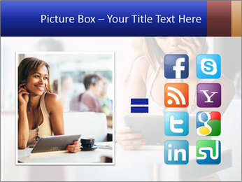 Woman Reading In Cafe PowerPoint Template - Slide 21