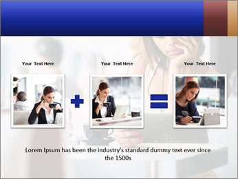 Woman Reading In Cafe PowerPoint Template - Slide 22