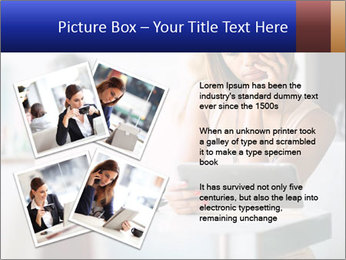 Woman Reading In Cafe PowerPoint Template - Slide 23