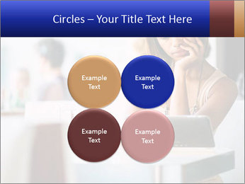 Woman Reading In Cafe PowerPoint Template - Slide 38