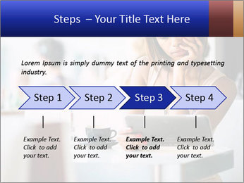 Woman Reading In Cafe PowerPoint Template - Slide 4