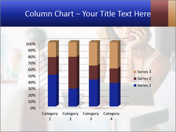 Woman Reading In Cafe PowerPoint Template - Slide 50