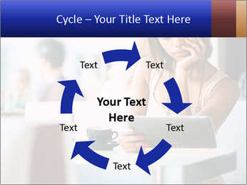 Woman Reading In Cafe PowerPoint Template - Slide 62