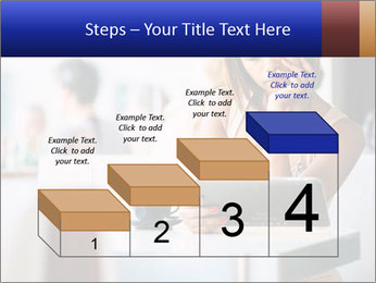 Woman Reading In Cafe PowerPoint Template - Slide 64