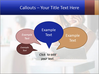 Woman Reading In Cafe PowerPoint Template - Slide 73