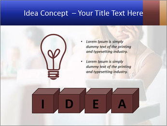 Woman Reading In Cafe PowerPoint Templates - Slide 80