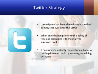 Woman Reading In Cafe PowerPoint Template - Slide 9