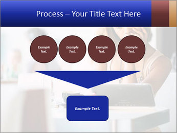 Woman Reading In Cafe PowerPoint Template - Slide 93