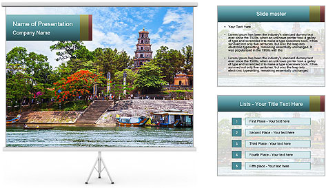 Pagoda in Green Park PowerPoint Template