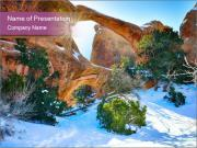Snowy Valley PowerPoint Templates