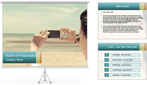 Photo OF Beach PowerPoint Template