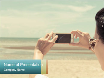 Photo OF Beach PowerPoint Template - Slide 1
