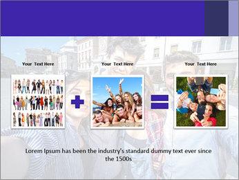 Friends Take Selfie Photo PowerPoint Template - Slide 22