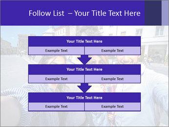 Friends Take Selfie Photo PowerPoint Template - Slide 60