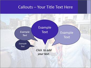 Friends Take Selfie Photo PowerPoint Template - Slide 73