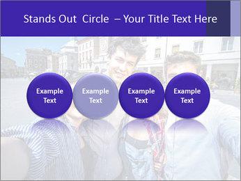 Friends Take Selfie Photo PowerPoint Template - Slide 76
